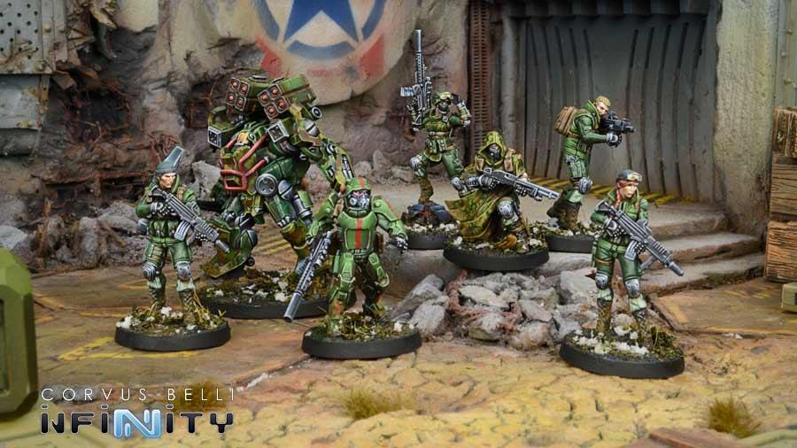 Muestra del Ejército de Ariadna, Infinity Juego de miniaturas