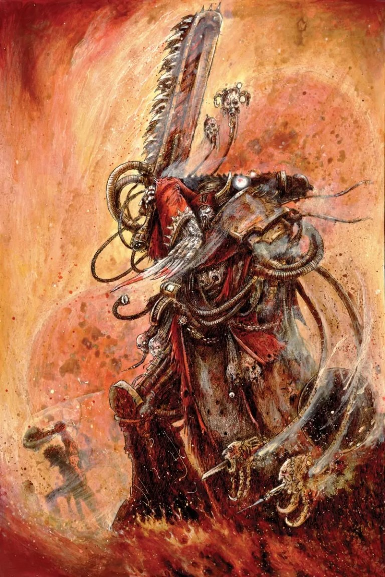 A Dark Mechanicum Tech Priest featured in Horus Heresy Visions of Darkness.