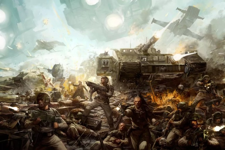 Cadian Shock Troops go on the offensive.