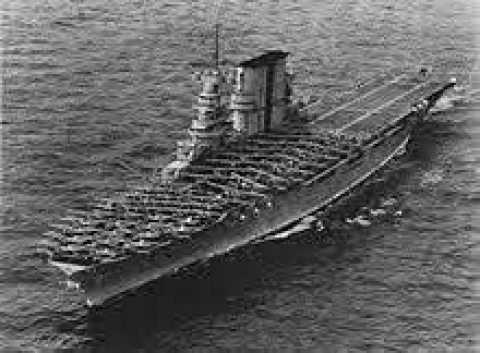 USS Saratoga (CV-3), one of America's first aircraft carriers.