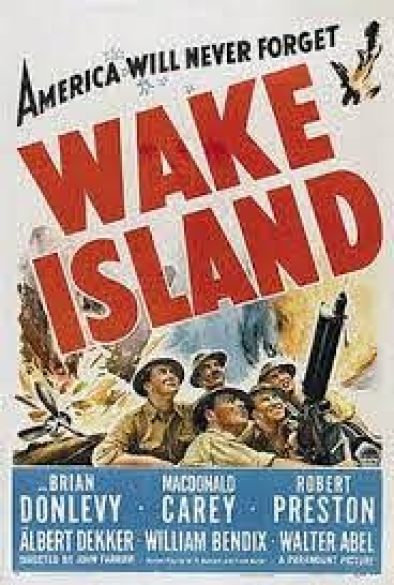 "Poster for 1942's ""Wake Island"" film."