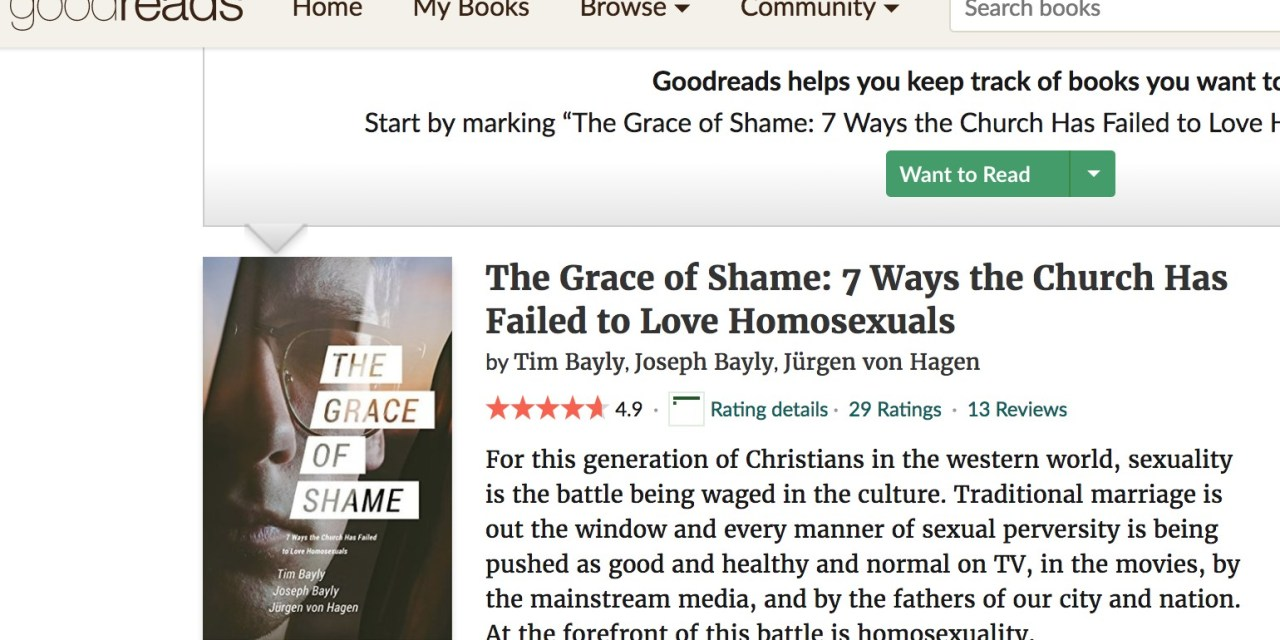 Latest Goodreads review of The Grace of Shame…