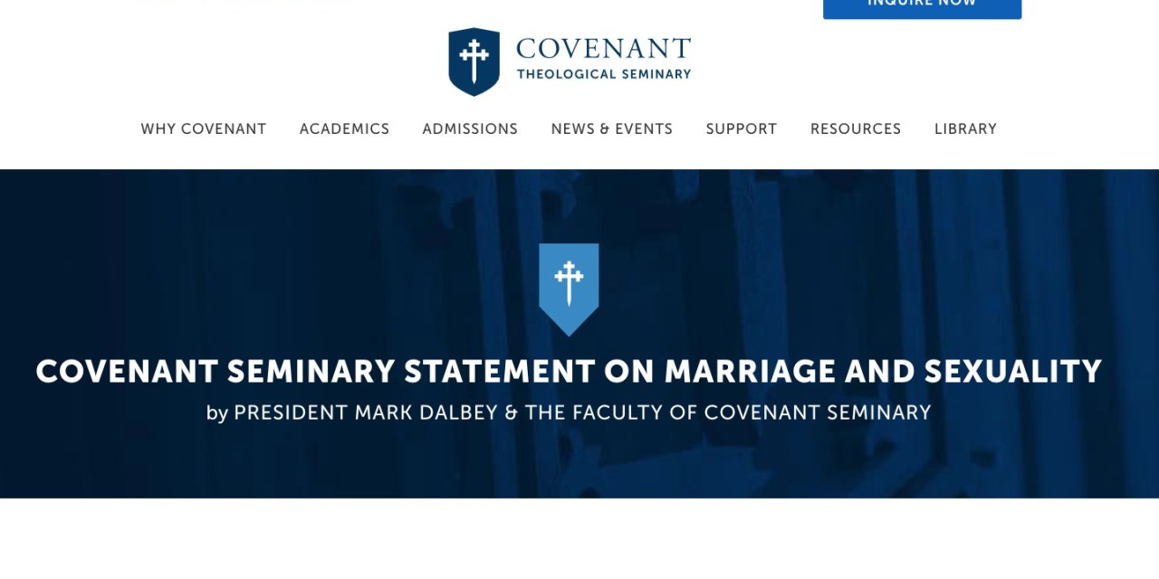 Covenant Seminary defends Revoice's gay Christian agenda