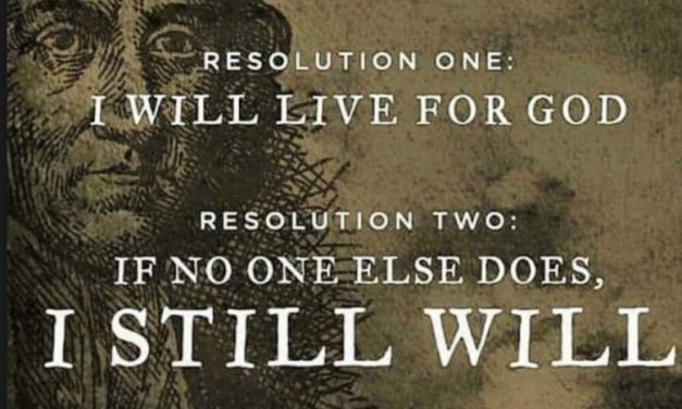 New Year's resolutions from Jonathan Edwards