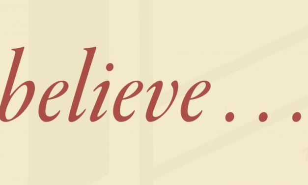 "Apostles' Creed: ""I believe…"""
