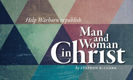 Help Warhorn Republish Man and Woman in Christ