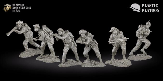 Plastic Platoon Marines Set 2a
