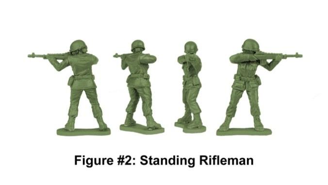 Army Women Standing Riflewoman