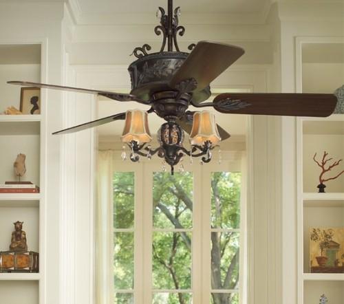 Chandelier Ceiling Fan Light Photo 13