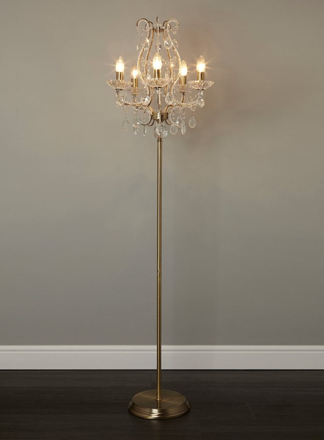 Use Floor Chandelier Lamps For Your Paradise House