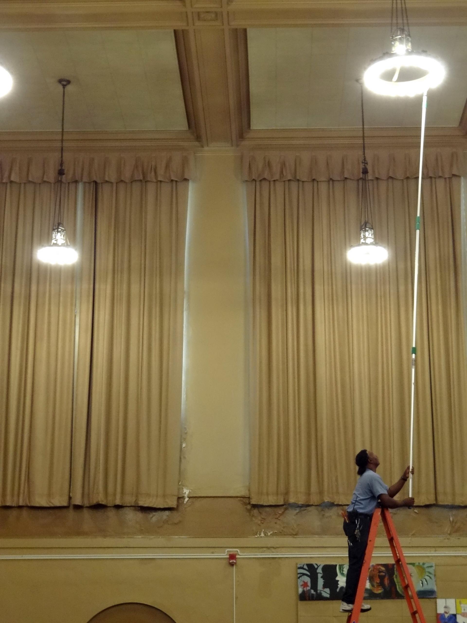 Change High Ceiling Light Bulb