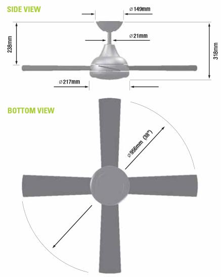 How To Measure Ceiling Fan Blade Size Www Lightneasy Net