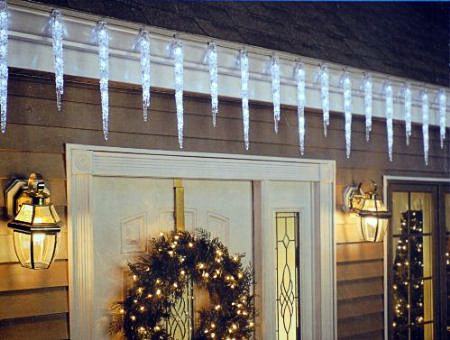 Outside Christmas Icicle Lights Roselawnlutheran
