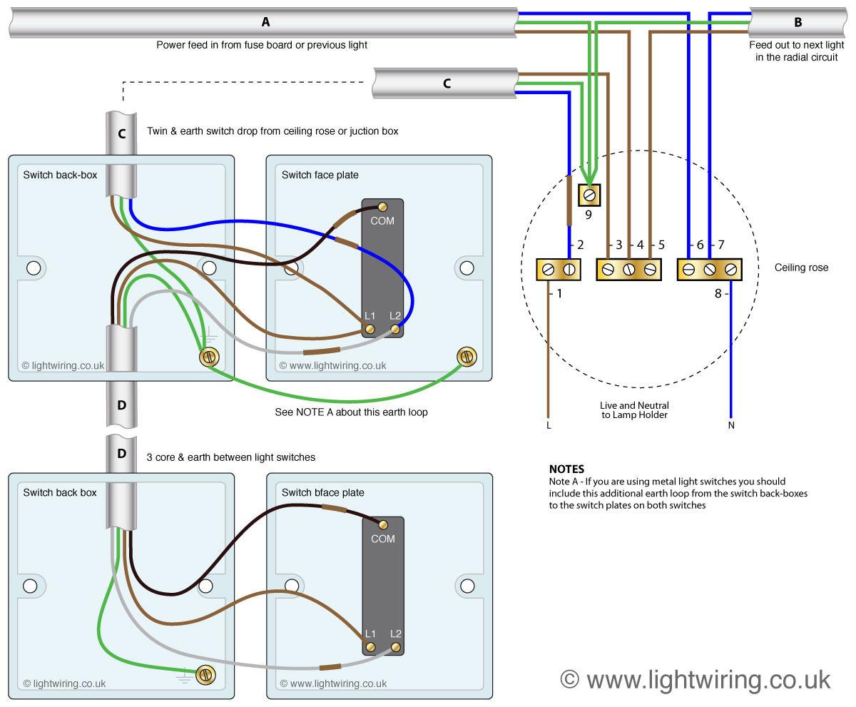 wiring 1 way light switch - dolgular, Wiring diagram