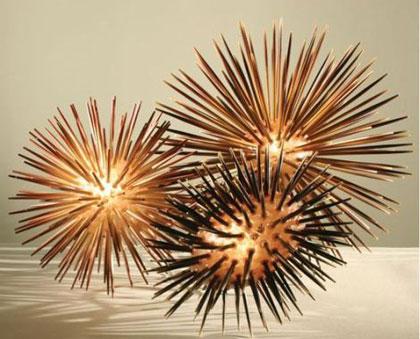 Sea Urchin Lamp The Design Of The Aquatic Animal