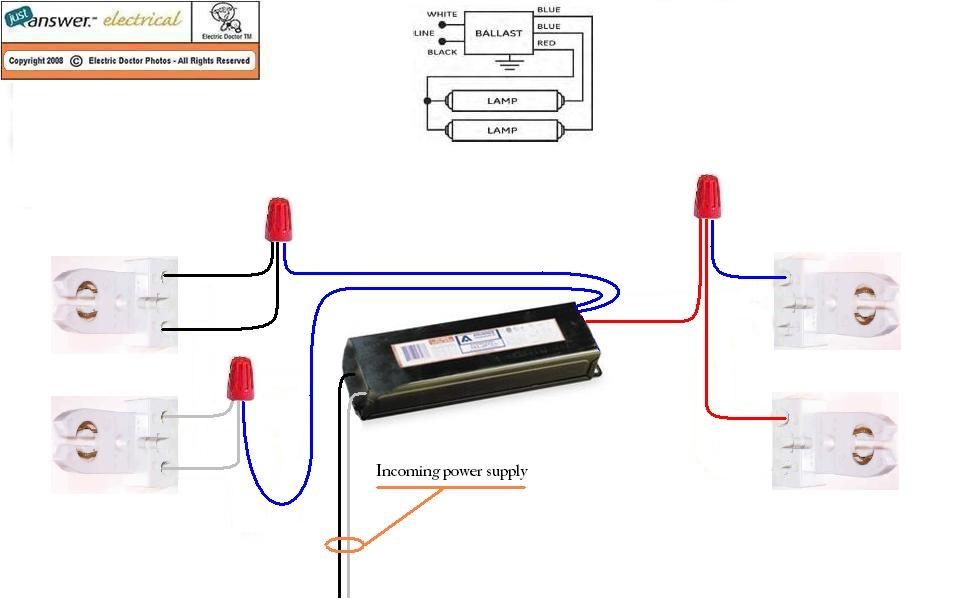 T8 Ballast Wiring Diagram Parallel fluorescent light ballast wiring diagram Ballast Connection Diagrams