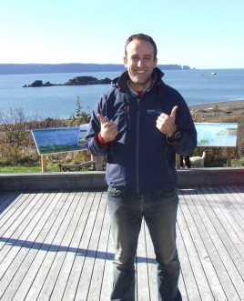 OpenHydro manager Jeremy Poste gives thumbs up for success
