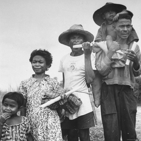 Native Japanese Negrito Family, pre-WWII, courtesy of Life Magazine