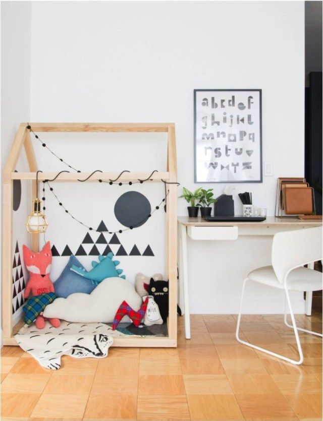 Design Inspiration: Creating a Kids' Play Space in Your Living Room; image via design-milk.com