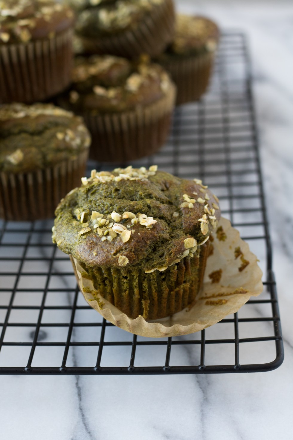 Banana Spinach Buckwheat Muffins - warmandrosy.com