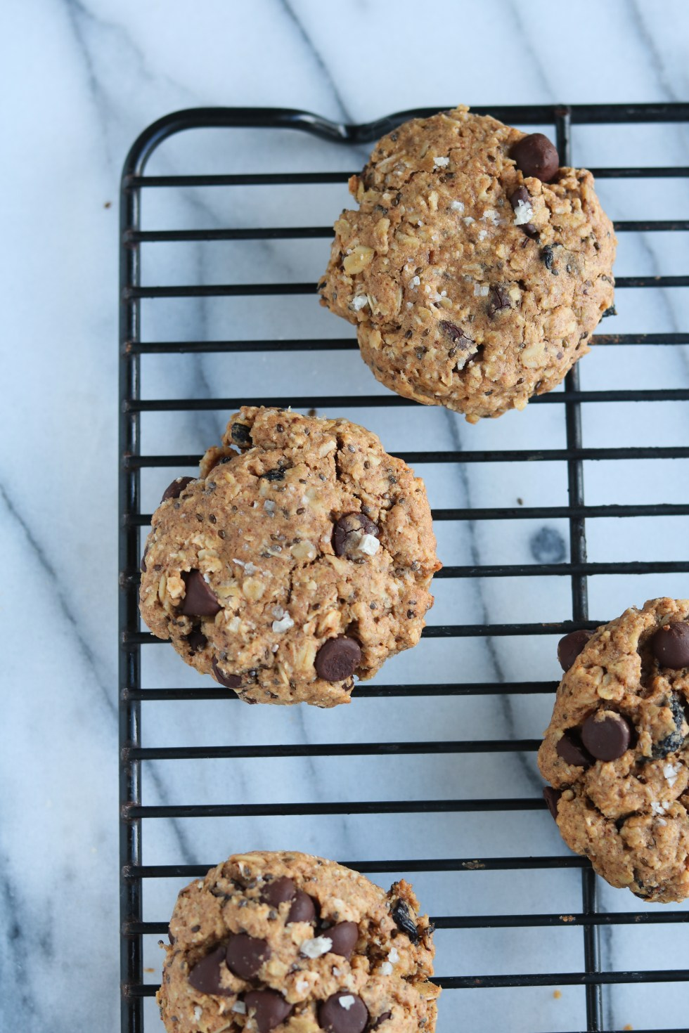 Oatmeal Spelt Chocolate Chip Cookies-Warm & Rosy