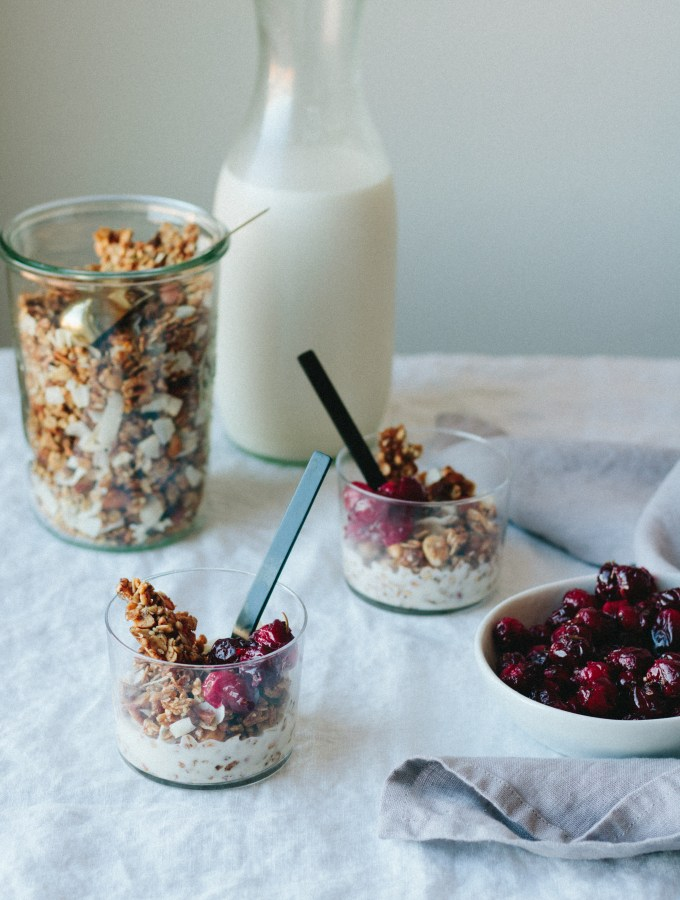 The Creamiest Nut Milk + The Crunchiest Granola, with Roasted Cranberries - warmandrosy.com