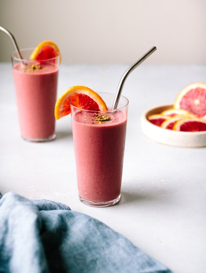 Beet, Berry + Blood Orange Smoothie