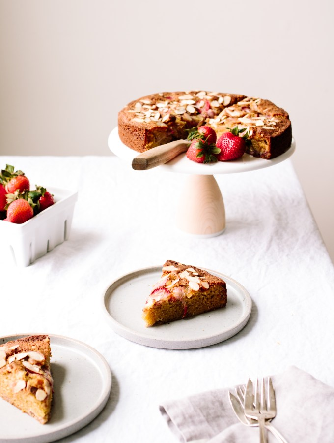 Strawberry Almond Olive Oil Cake — Grain-free + Dairy-free