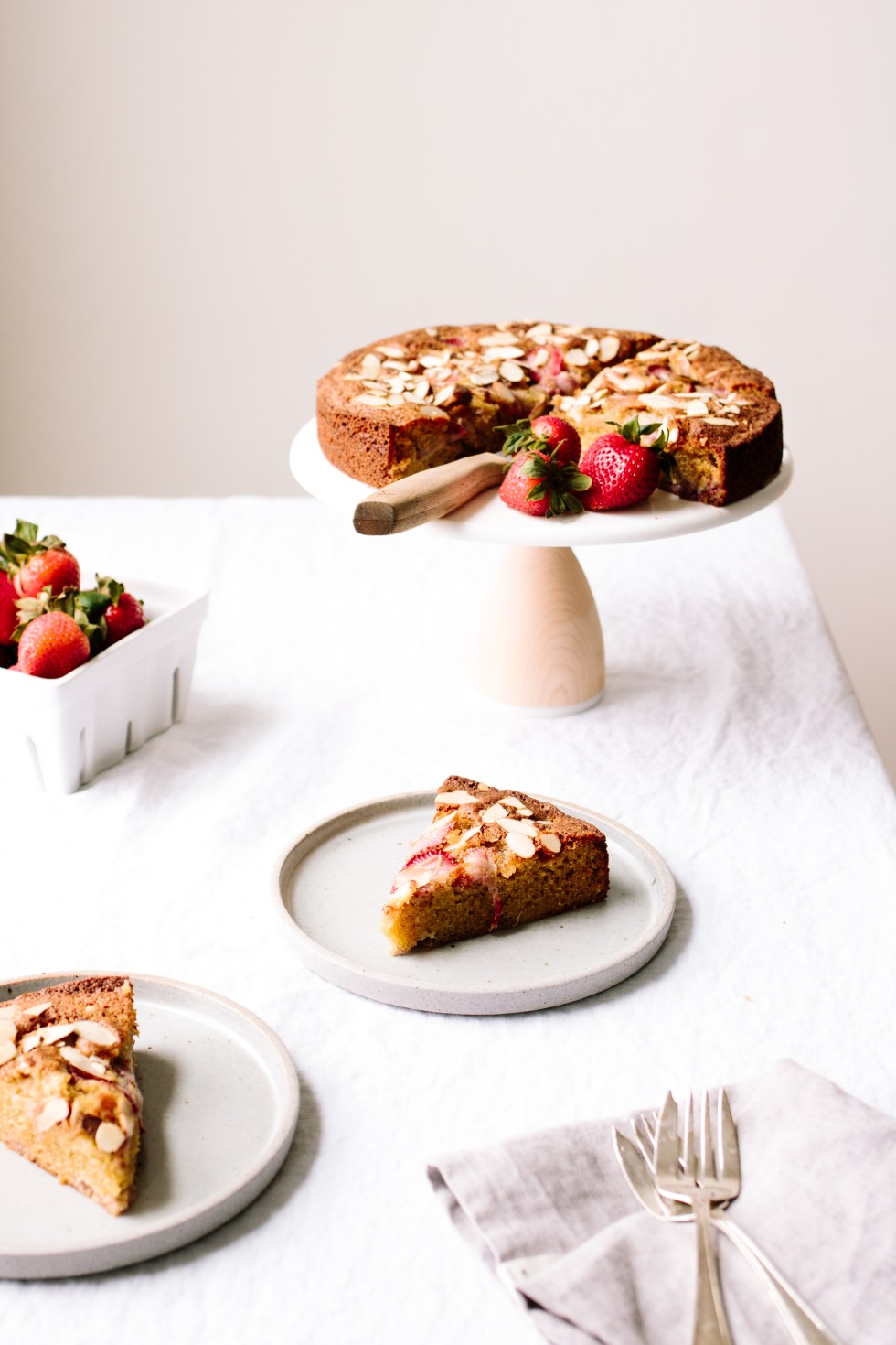 Strawberry Almond Olive Oil Cake — Grain-free + Dairy-free | warmandrosy.com