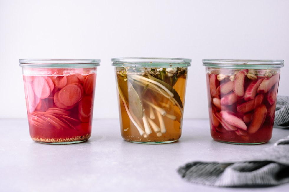 Pickled Ramps, Rhubarb or Radishes, aka Spring, Preserved — warmandrosy.com