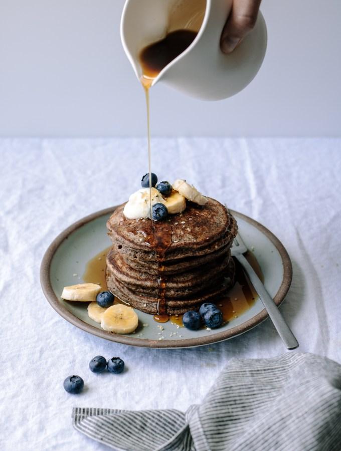 Buckwheat Banana Blender Pancakes — Gluten-free