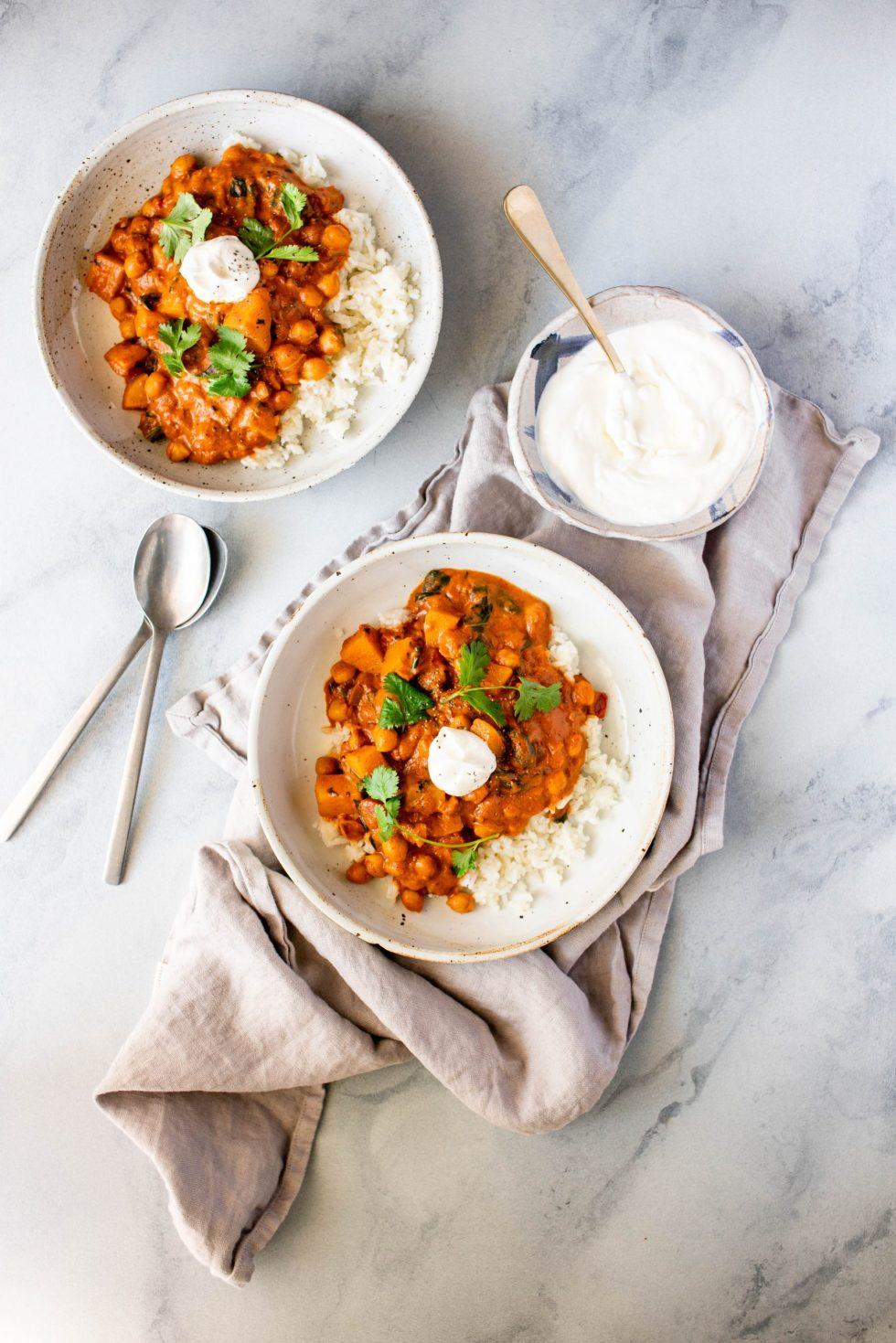 Tomato Chickpea Stew with Coconut + Garam Masala — warmandrosy.com
