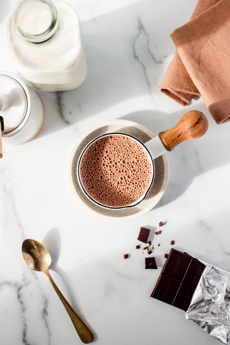 Creamy Oat Milk Hot Chocolate — warmandrosy.com
