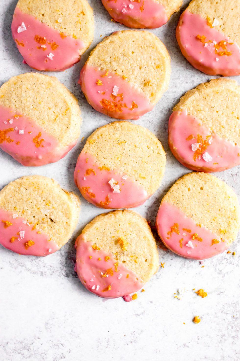 Blood Orange Cardamom Shortbread Cookies — warmandrosy.com