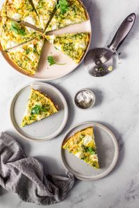 Broccoli and Goat Cheese Frittata — warmandrosy.com