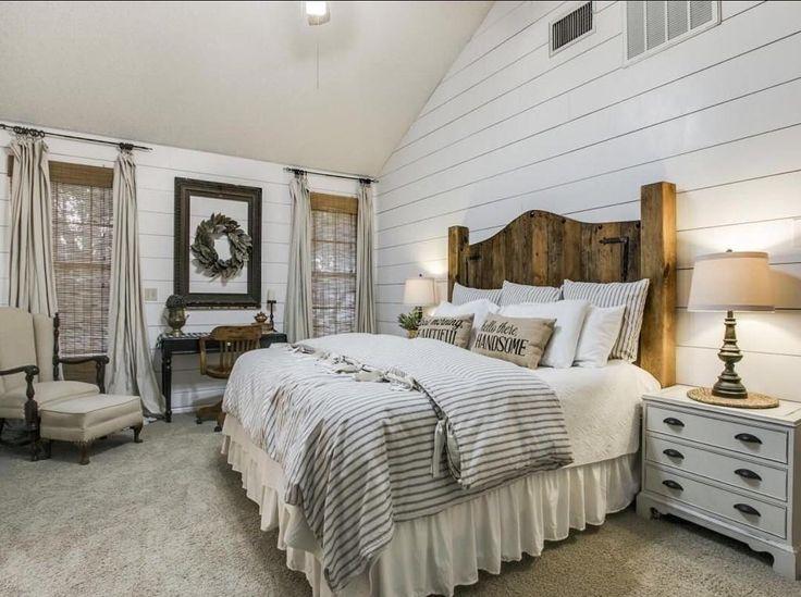 18 Magnificent Farmhouse Bedroom Ideas that Signify ... on Master Bedroom Farmhouse Bedroom Images  id=99426