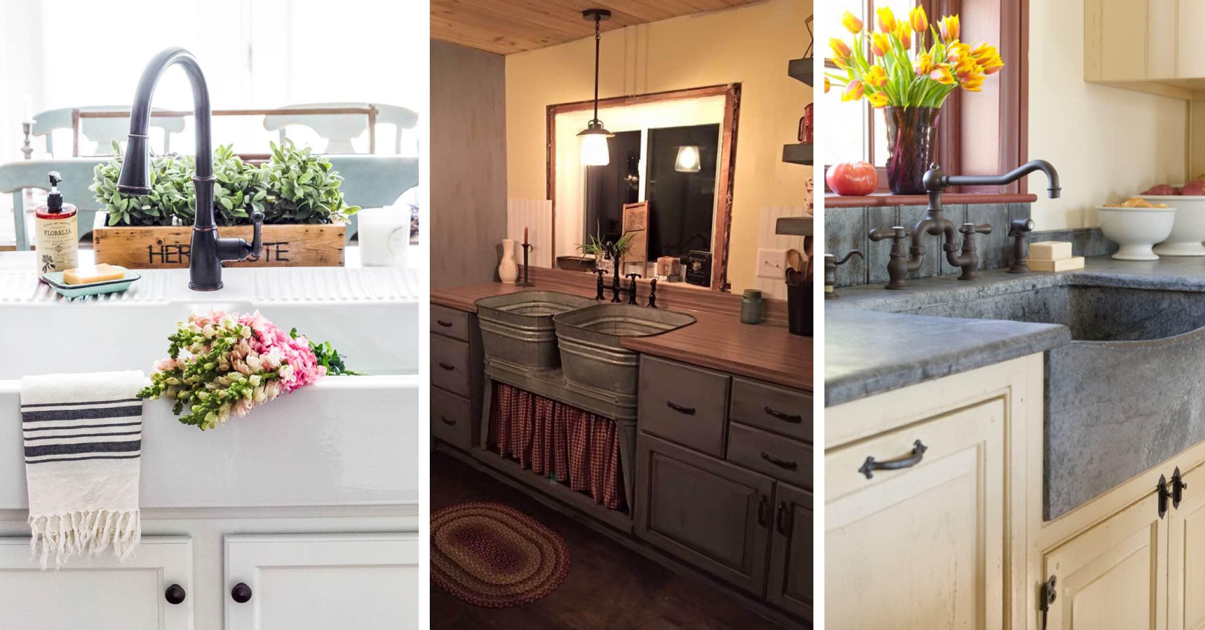 19 Cool Farmhouse Kitchen Sink Ideas That are Versatile ... on Kitchen Sink Ideas  id=86313