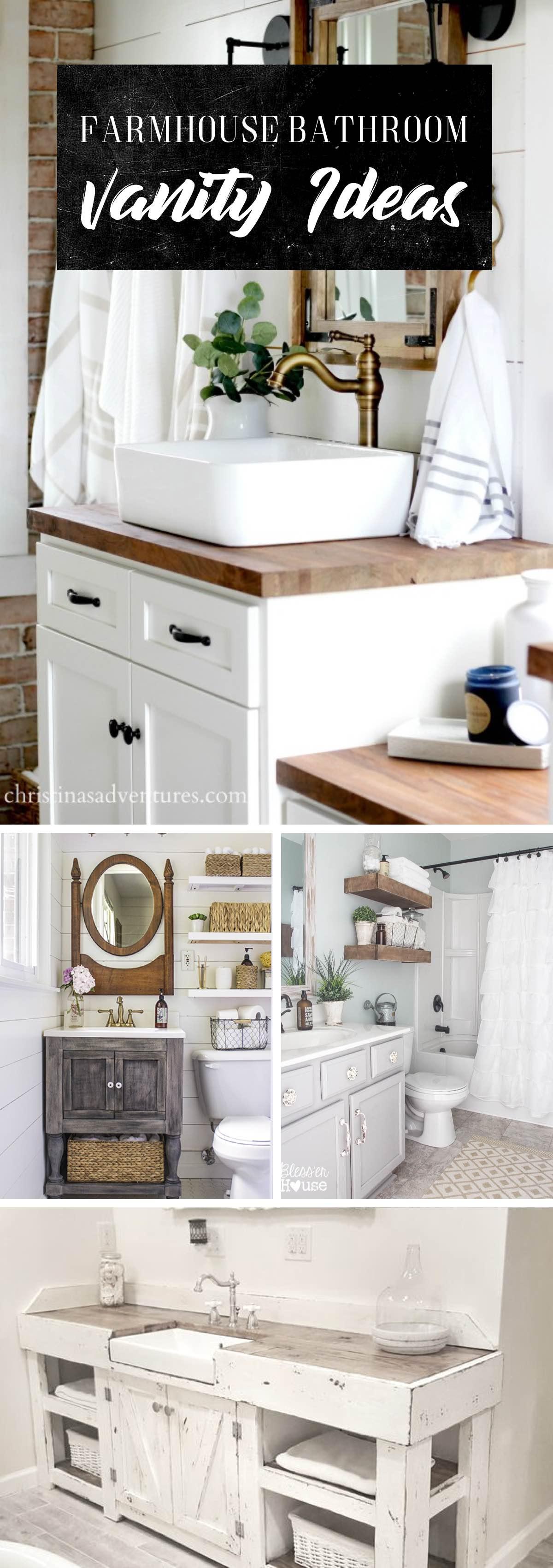 19 stylish farmhouse bathroom vanity