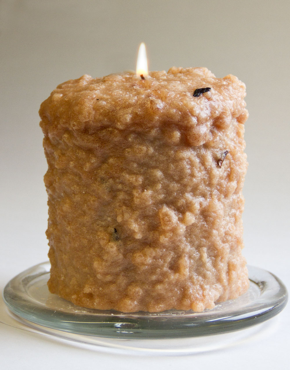 Nutmag Cream Hearth Candle