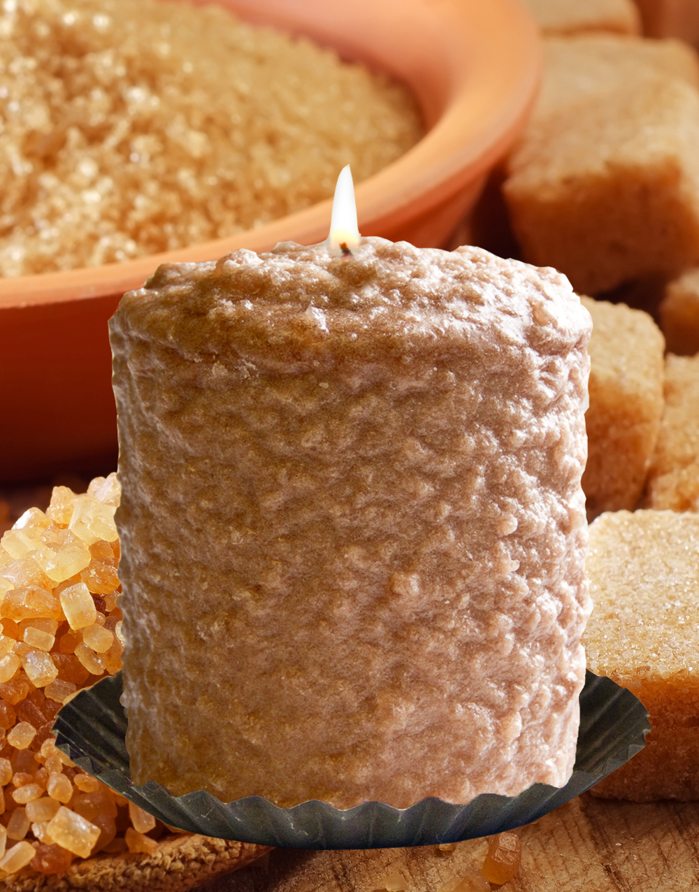 Baked Brown Sugar Hearth Candle