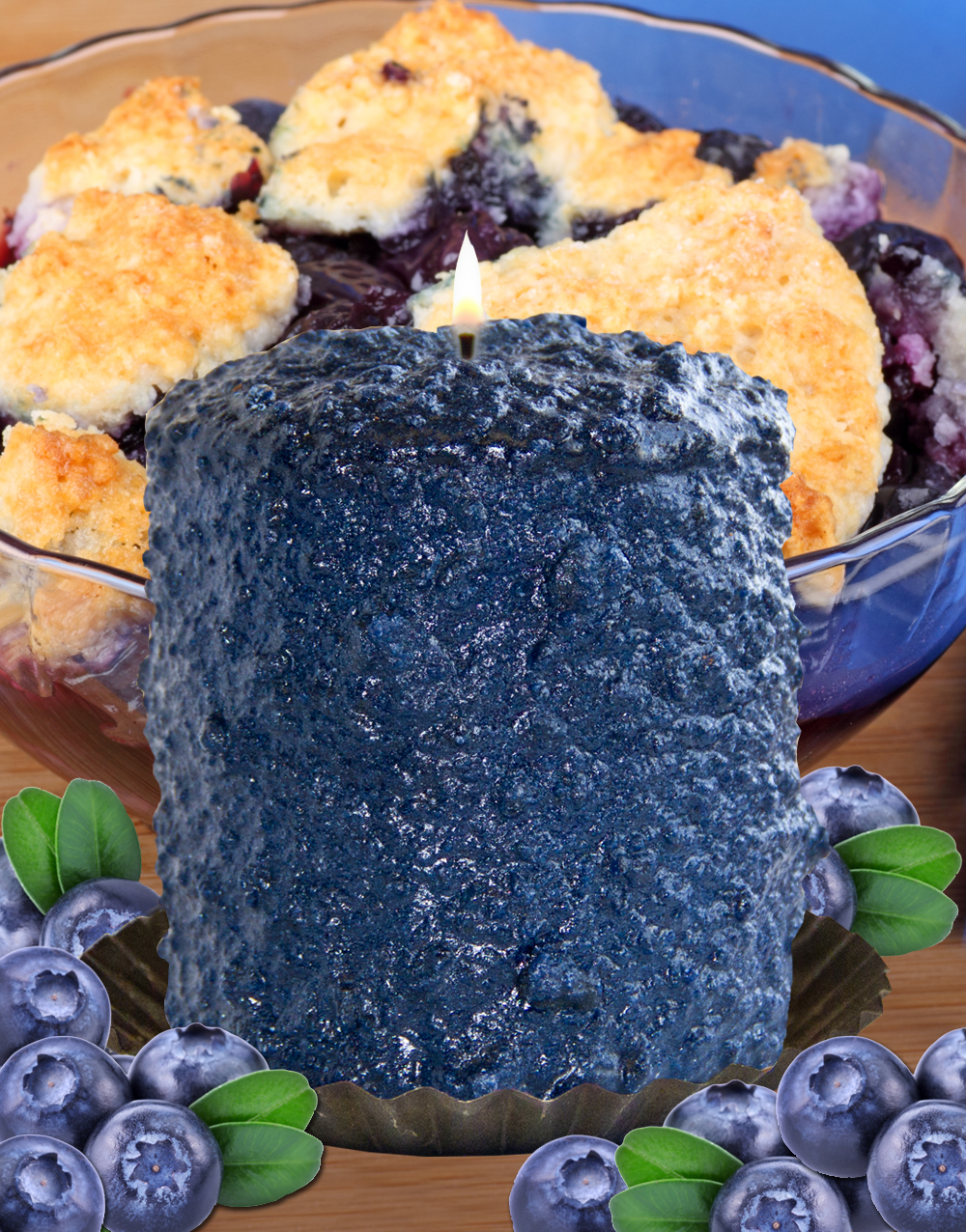Blueberry Cobbler Hearth Candle