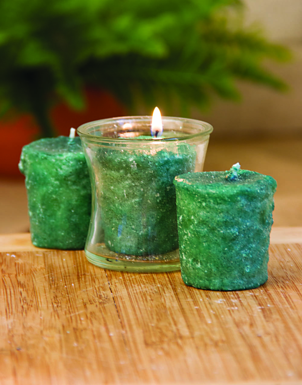 Christmas Tinsel 3 Pack Votive Candles