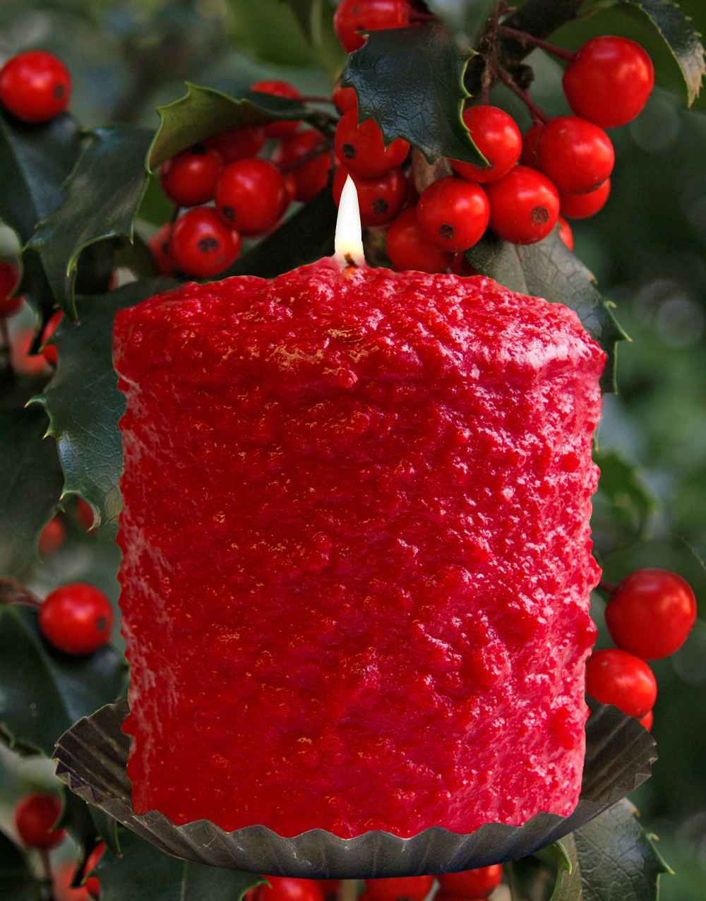 Hollyberry Hearth Candle