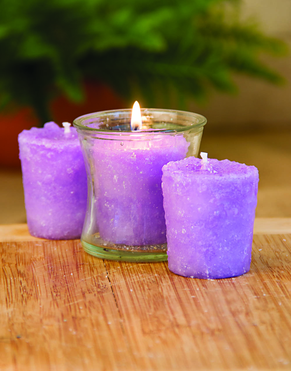 Lilac Blossom 3 Pack Votive Candles