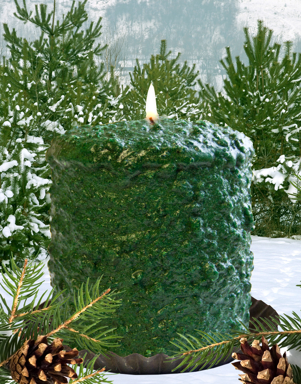 Northern Pine Hearth Candle