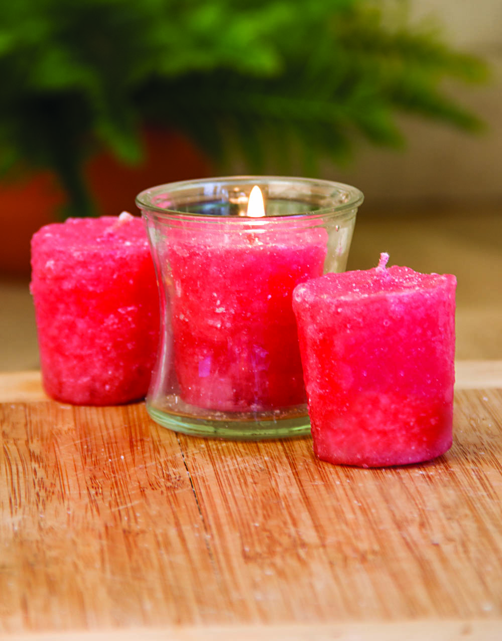 Pink Coral 3 Pack Votive Candles