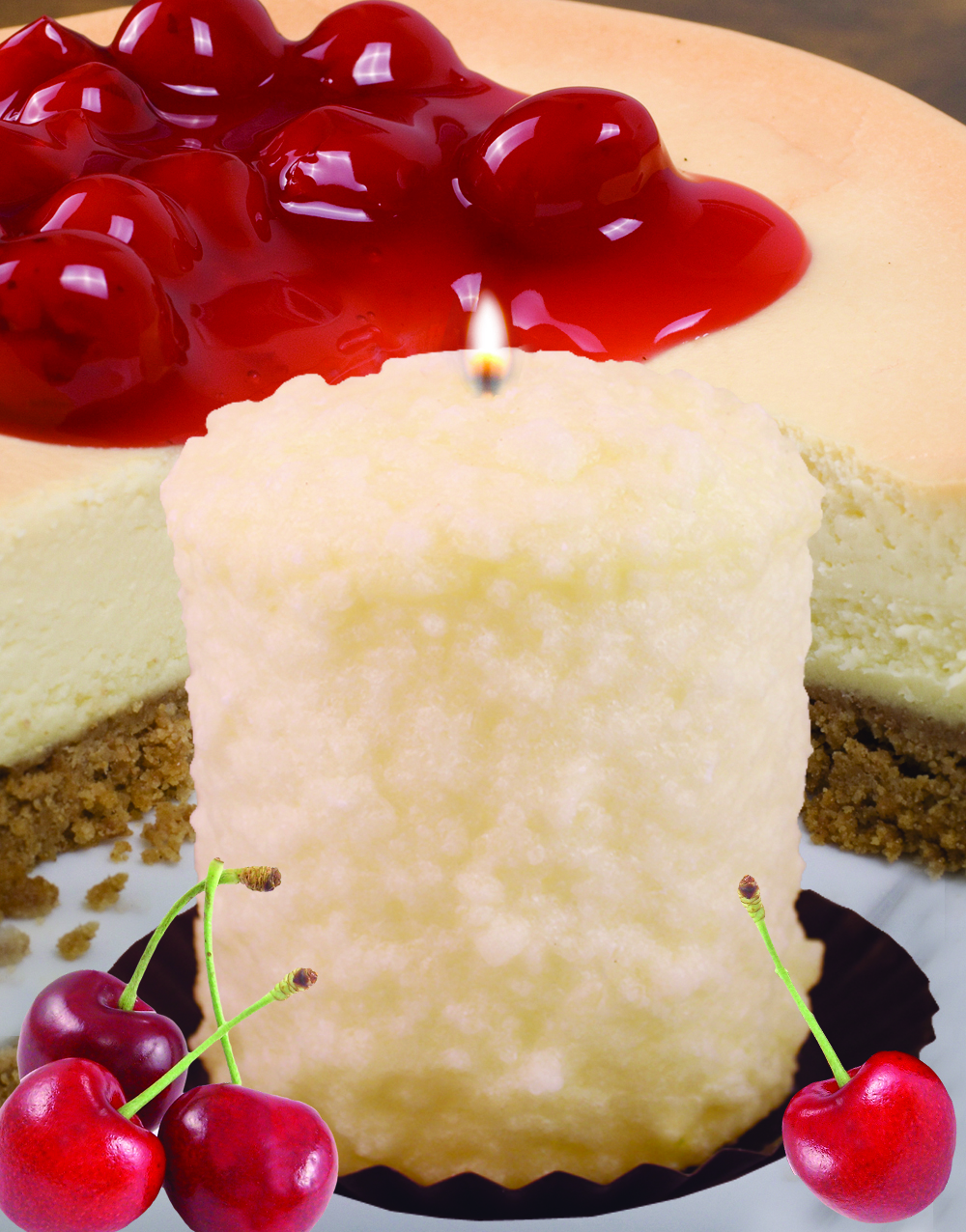 White Cherry Cheesecake Hearth Candle