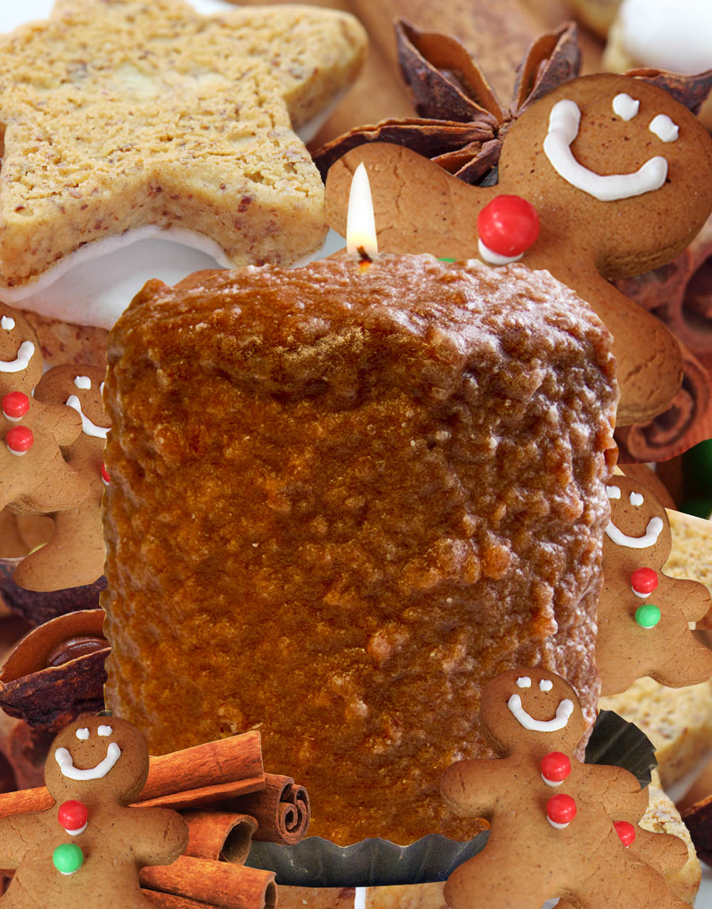 Gingerbread Cookie Hearth Candle