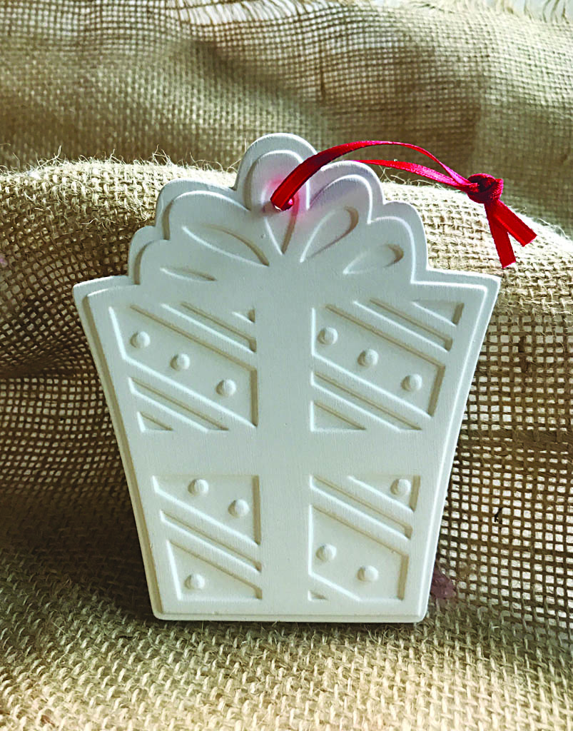 Time & Again Ceramic Ornament – Present