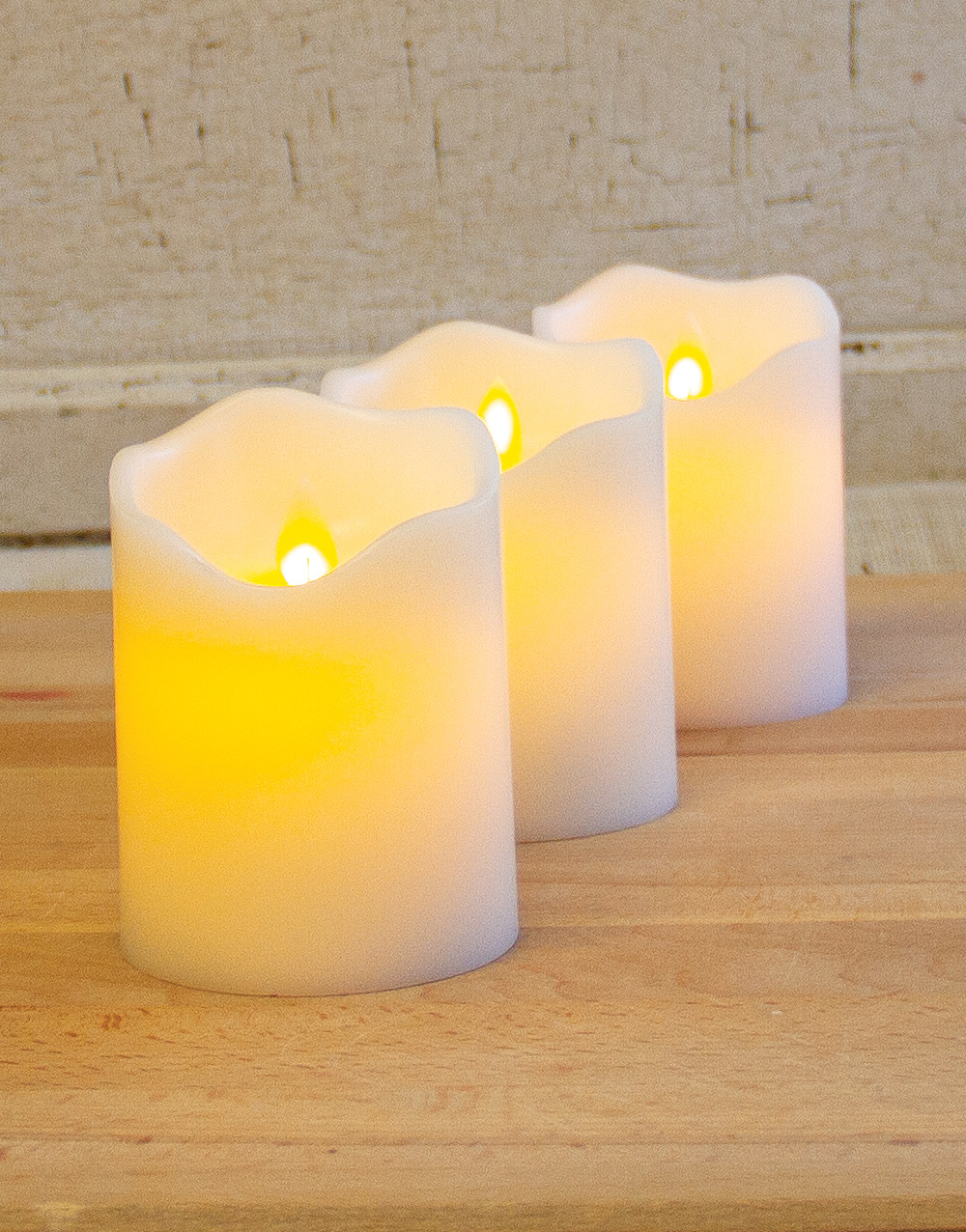 Motion Flame® 3″ x 4″ Battery Operated LED Wax Candle w/ Timer